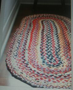 Braided rugs  Mom would make these during the long winters....no tv