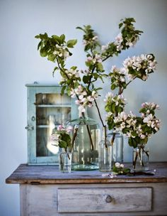 Nothing I love more than to bring the outside in with vintage bottles and fresh flowers... sigh                                   all imag...