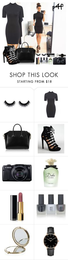 """""""Passion 4Fashion: Classic Black"""" by shygurl1 ❤ liked on Polyvore featuring AX Paris, Givenchy, Canon, Dolce&Gabbana, Chanel, Topshop, Henri Bendel, CLUSE, women's clothing and women's fashion"""