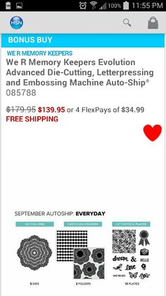 HSN 5-14-14 TS AUTO SHIP PROGRAM. Embossing Machine, We R Memory Keepers, Anna Griffin, Scrapbook Layouts, Letterpress, Evolution, Cricut, Memories, Scrapbooking Layouts