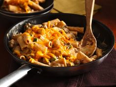 Cheesy Barbecue Beef Rigatoni - Progresso™ Recipe Starters™ cheese sauce provide a flavorful addition to this ground beef and pasta dinner made in skillet – ready in 30 minutes.