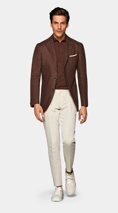 Brown Pants Outfit, Brown Blazer, Business Casual Men, Men Casual, Smart Casual, Blazer Shirt, Linen Blazer, Cardigan Bleu, Outfits
