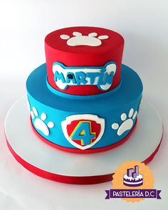 Bolo Do Paw Patrol, Torta Paw Patrol, Paw Patrol Cupcakes, Paw Patrol Birthday Theme, Paw Patrol Party, Special Birthday Cakes, Card Birthday, Birthday Greetings, Birthday Ideas