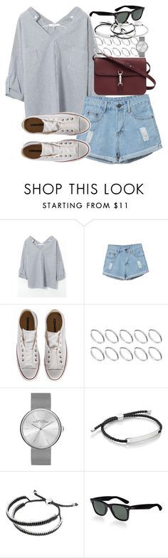 """""""Untitled #3432"""" by hellomissapple on Polyvore featuring Converse, Gucci, ASOS, Marc by Marc Jacobs, Monica Vinader, Links of London, Ray-Ban, Michael Kors, women's clothing and women's fashion"""