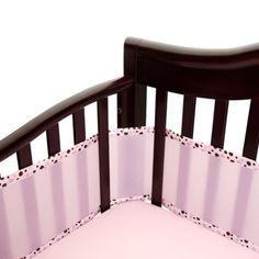 Amazon.com: Breathablebaby Bumper Pink/ecru: Baby