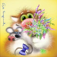 Fluffy cards from Leo Barteneva