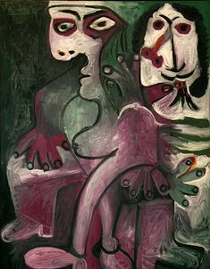 """Pablo Picasso - """"Man and woman"""", 1968"""