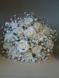 @ Ashley S. Not sure if you are doing babys breath for the bridesmaids but if you are this could be really pretty for your bride bouquet