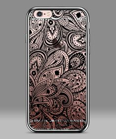 Another great find on #zulily! Black & Clear Paisley iPhone Case #zulilyfinds