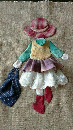 Ulla's Quilt World: Quilt bag - Japanese patchwork Wool Applique, Applique Patterns, Applique Quilts, Applique Designs, Embroidery Applique, Quilt Patterns, Sewing Patterns, Hand Applique, Applique Ideas