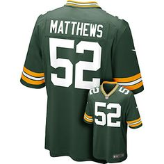 Nike Green Bay Packers Clay Matthews Game NFL Replica Jersey - Men