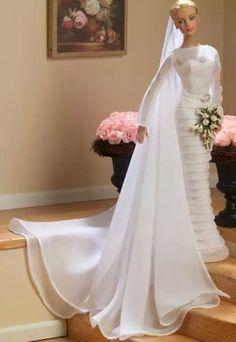 Fashion Royalty Dolls, Fashion Dolls, Retro Fashion, Bridal Gowns, Wedding Gowns, Barbie Wedding, Bride Dolls, Wedding Attire, Marie