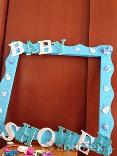 marco para fotos baby shower - Buscar con Google