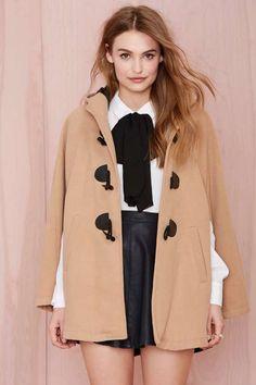 Nasty Gal English Nights Cape - Jackets + Coats