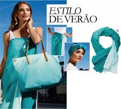 CATÁLOGO 8 2015  //  #acessorios #oriflame #portugal #blue #echarpe #mala #bag #verao #summer #moda #fashion   // visit: https://www.sonhar.pt