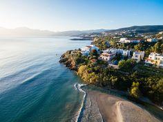 Almyros Beach in Agios Nikolaos, Crete, Greece