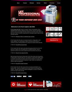 Copier Rental Sale Website Design by Web Design Johor Bahru - Aspire Idea http://www.aspireidea.net