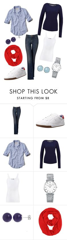 """""""Bootcut Jeans"""" by kathylang on Polyvore featuring Simply Vera, Tommy Hilfiger, Hollister Co., Vince, Longines and Pori"""