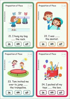 English Games For Kids, English Grammar For Kids, Teaching English Grammar, English Worksheets For Kids, English Lessons For Kids, Kids English, Kindergarten Reading Activities, Grammar Activities, English Activities