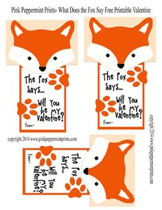 FREE Printable What Does the Fox Say Valentines from Pink Peppermint Prints copy 72