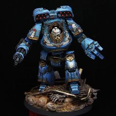 PAINTED 40K: Ultramarines Contemptor Dreadnought, Painted by Alessandro Manilii