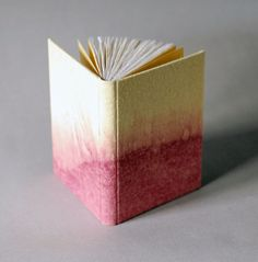 Little raw silk journals with ombre covers by Natalie Stopka. I've used all natural dyes here for the covers, headbands, and endsheets; some foraged and some sourced from ecologically-minded vendors.