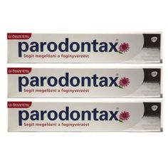 3x Parodontax Whitening Natural Herbal Toothpaste for Bleeding Gums 75 ml