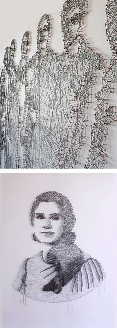 Thread & Nail Portraits by Pamela Campagna | Inspiration Grid | Design Inspiration