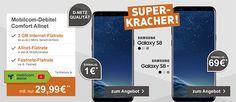 Samsung Galaxy S8 für 1€ mit 2GB D-Netz Handyvertrag für 29,99€ http://www.simdealz.de/vodafone/galaxy-s8-mit-vodafone-vertrag/