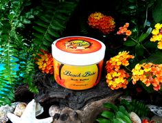 """Welcome to Paradise! All Natural body butter made from coconut oil and shea butter. Sunkissed is the fragrance for the ultimate Beach Babe. The tops notes of vanilla and coconut smell just like suntan lotion and a day at the beach, while the lower notes of cotton candy, caramel, and brown sugar smell just like a walk on the boardwalk at night. You can't get more """"beachy"""" than this scent!"""
