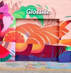 Glossier is coming to Miami! The newest pop-up shop for Glossier will be in Miami until April At the Miami pop-up, you can try out every single Glossier product, including the entire Glossier Play makeup line. There will be special events, too. Architectural Digest, Glossier Pop Up, Glass Blocks Wall, Removable Wall Murals, Custom Carpet, Beauty Companies, Pop Up Shops, Mural Art, Mural Painting