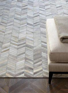 Moderner Teppich Lederteppich 100% Leder Carpet Design GAUCHO RUG E103063