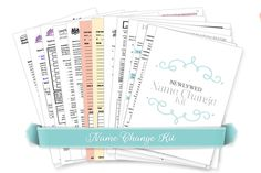 A Free, downloadable kit including advice and forms on changing names after marriage.