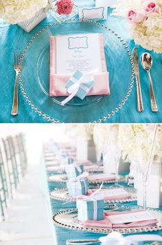 Elegant Breakfast at Tiffany's Inspired First Birthday Party  Tiffany blue theme first birthday party ideas