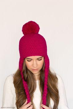Pompom Beanie Crochet Pattern