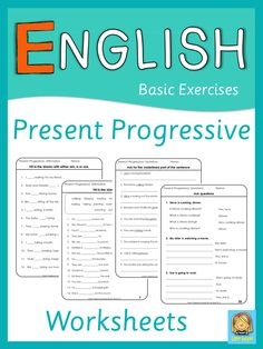 Present progressive tense worksheets.This set of worksheets for ESL lessons can be used to practice, to review or to test affirmative, negative and interrogative sentences in present progressive.