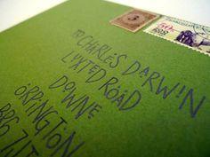 Wedding Calligraphy - Fun, Modern Meadow Green Envelope Addressing. $20.00, via Etsy.