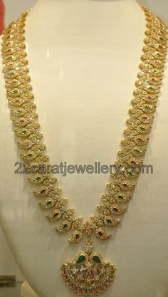 Jewellery Designs: Diamond Mango Mala