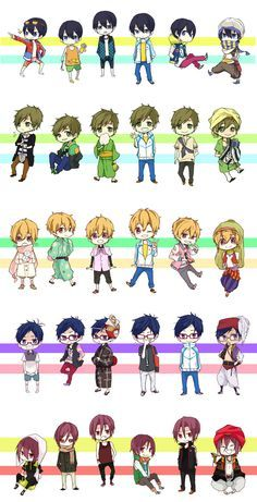 Free! Iwatobi Swim Club 19 Days, Makoharu, Makoto Tachibana, Chicas Anime, Noragami, Manga Anime, Anime Mangas, Anime Chibi, Anime Guys