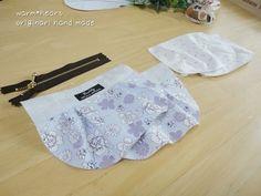 内布用のパーツに型紙の指示に沿ってダーツを入れたものを同じく2枚用意すれば、部品作りは終了です。