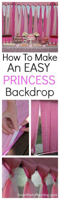 The easiest DIY Party backdrop for those on a budg…