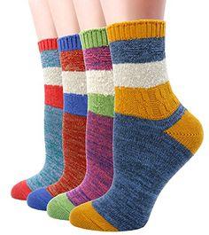 LITTONE Women's Cotton Vintage Design Knitted Soft Crew Socks Crazy Socks, Cotton Socks, Vintage Designs, Amazon, Fashion, Moda, Amazons, Riding Habit, Fashion Styles