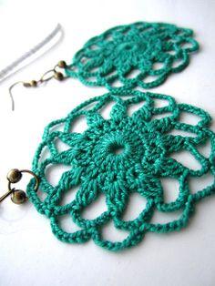 Doily crochet earrings .....simple to imitate....