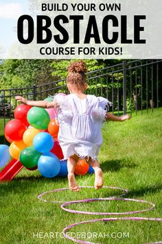 Looking for a fun kid's activity this summer? Make an obstacle course for kids in your own backyard! Here are 6 easy and fun obstacles for young kids to enjoy. AD