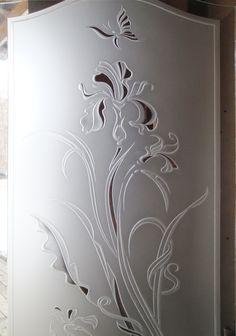 "Витраж ""Итальянский Ирис"" Wardrobe Door Designs, Wardrobe Doors, Glass Front Door, Glass Door, Sand Glass, Glass Art, Window Glass Design, How To Purl Knit, Single Doors"
