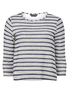 Womens stripe 2-in-1 Top- White