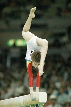 Daniela Silivas. I still remember this move while watching the 1988 Olympics in Seoul.