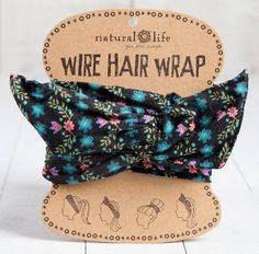 Wire Hair Wrap, Black Multi