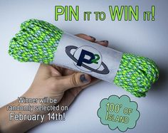 PIT IT TO WIN IT! Pin this photo for a chance to win 100' of FREE paracord! The winner will be drawn at random and announced on February 14th!