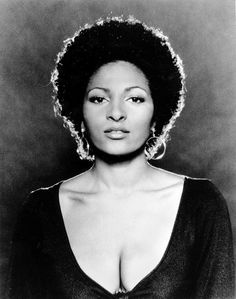 """Pam Grier sent shockwaves through the country in her role as the bold and beautiful Foxy Brown. With sentiments like, """"It's always fun to put on bell bottoms and have your butt hanging out,"""" Grier redefined sexy. Afro, Foxy Brown Pam Grier, Pam Grier 70s, Most Beautiful Black Women, Beautiful Ladies, Beautiful People, Amazing People, Hair Icon, The Knowing"""